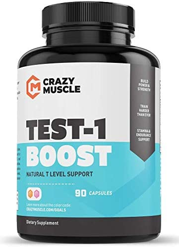 Testosterone Booster for Men and Women over 1,300mg per capsule to Increase Low Testosterone Levels in Males by Crazy Muscle – Reverse The Effects of Low Test on Muscle and Fat – 90 Supplement Pills