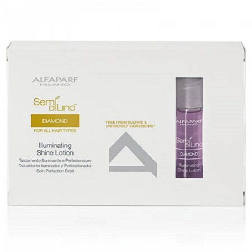 Alfaparf Semi Di Lino New Illuminating Shine Lotion 12 Vials, 13 ml