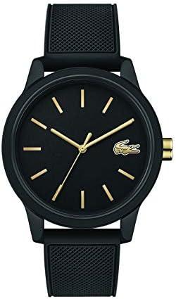 Lacoste Men's TR90 Japanese Quartz Watch with Rubber Strap, Black, 19.5 (Model: 2011010) 1