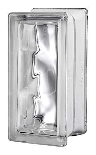 Seves 5002854 8 x 4 x 4 in. Nubio Glass Block - Pack of 8 by SEVES