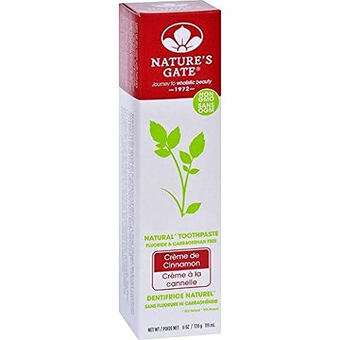 Natures Gate Toothpaste - Creme de Cinnamon - 6 oz - Case of 6 (Dycal Cement)