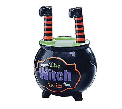 Halloween Caldron Bowl with Witch Leg Spreaders