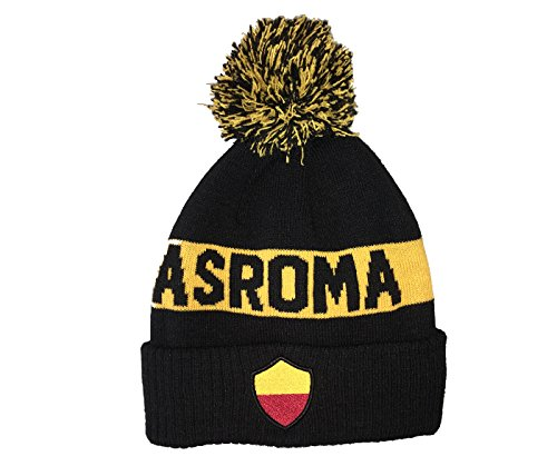 9573873c29656 Fi Collection AS Roma Officially Licensed Team Cuff Knit w Pom Pom