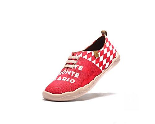 Uin Femmes Chaussures De Toile Occasionnels Mont Carlo Imprimé Rouge