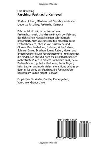 Fasching Fastnacht Karneval Geschichten Märchen Gedichte Und
