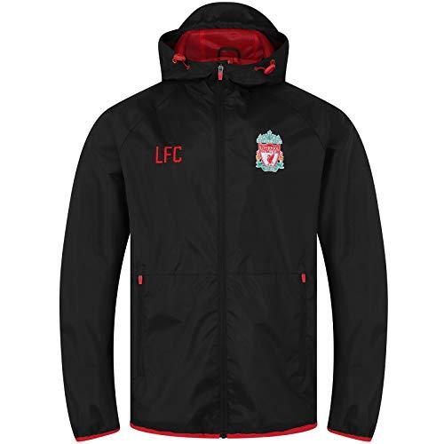 Liverpool FC Mens Jacket Shower Windbreaker Official Football Gift