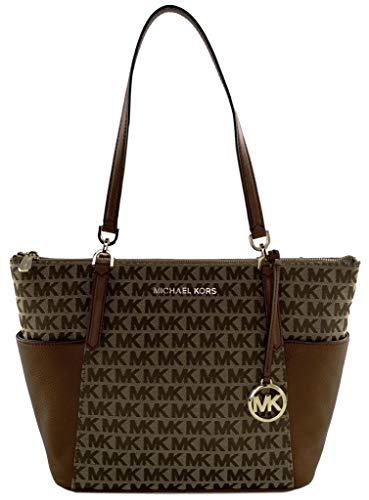 Michael Kors Bedford Large East West TZ Tote (Biege Ebony)