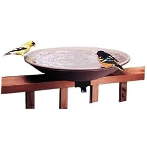API 645 Bird Bath Bowl with Tilt-to-Clean Deck carril Mounting Bracket jardín césped, mantenimiento