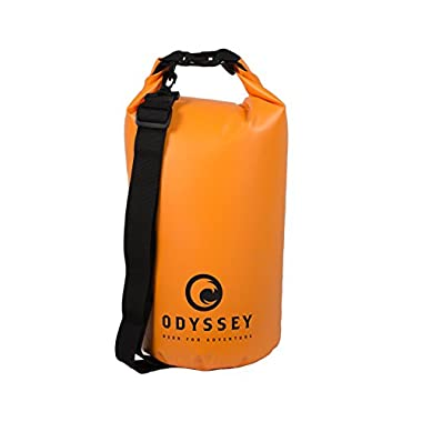 Orange Waterproof Dry Bag (20L) by Odyssey, with Shoulder Strap & Free Bonus Smartphone Dry Bag, Water proof Guaranteed