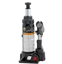 Omega 10125B Black Hydraulic Bottle Jack - 12 Ton Capacity