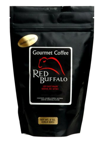 Almond Decaf Coffee Flavored Toasted - Red Buffalo Toasted Almond Flavored Decaf Coffee, Ground, 1 pound