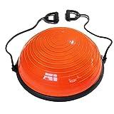 TMY Thickening Yoga Wave Speed Ball Semicircle Balance Ball Fitness Yoga Rehabilitation Training Hemisphere (Color : Orange)