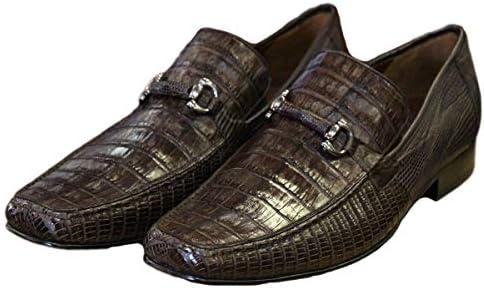 Desgracia binario en  Amazon.com: Zapatillas de cocodrilo para hombre auténticas, color marrón  (EE) de ancho.: Shoes