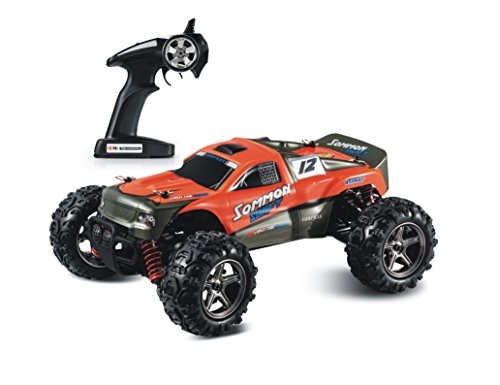 illuOkey RC Car SOMMON SWIFT High Speed 32MPH 4x4 Fast Race Cars1:24 RC Scale Rtr Racing 4WD Electric Power Buggy W/2.4G Remote Control Off Road Cross Country Vehicle, Orange