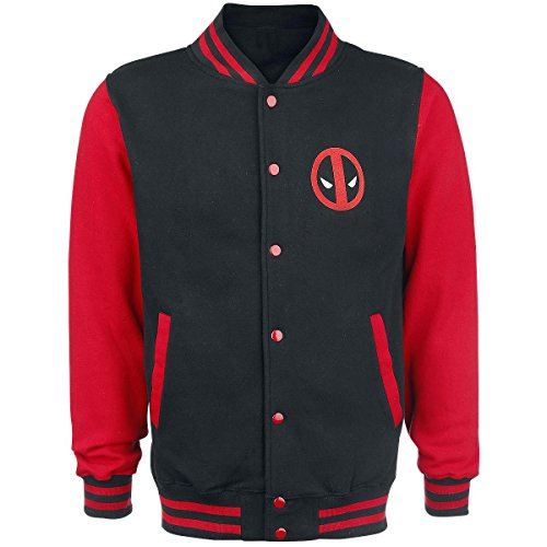 Decrum Deadpool Logo Stylish Letterman Jacket L