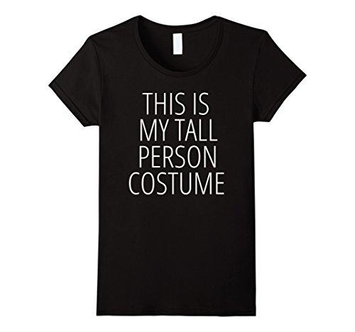 Womens TALL FUNNY HALLOWEEN COSTUME JOKE NOVELTY T-SHIRT Large (Halloween Costumes For Tall Women)