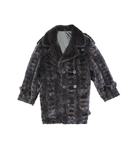 Mens Mink Coat - Bergama 716562 New Mens Blue Iris Mink Fur Sections Mid Length Coat Stroller XL