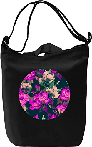 Colourful Flowers Borsa Giornaliera Canvas Canvas Day Bag| 100% Premium Cotton Canvas| DTG Printing|