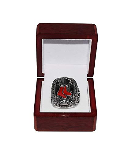 BOSTON RED SOX (David Ortiz) 2013 WORLD SERIES CHAMPIONS (Boston Strong) Rare Collectible High-Quality Replica Baseball Championship Ring with Cherrywood Display Box