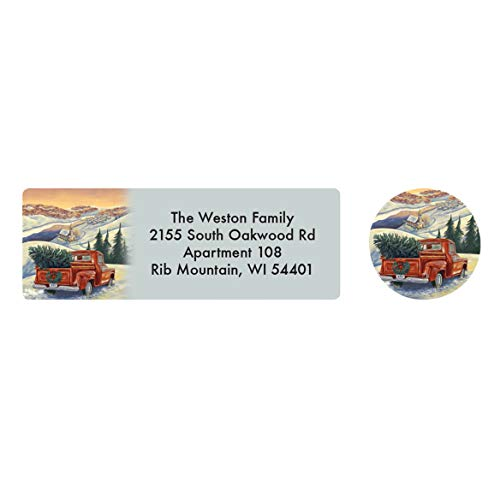 Personalized Hearts Come Home Address Labels & Seals - Includes a Set of 20 Holiday Self-Stick Sheeted Labels Sized at 2 ½ in. Long x 1 in. Wide and Matching Seals (Hearts Address Labels)