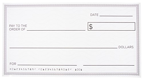 Reusable Giant Oversized Fake Paper Checks for Endowment Award - Large Dry Erase Novelty Cheque for Rewards, Donations, Gag Gifts, Raffle Winners and Fundraisers, 30 x 16 Inches