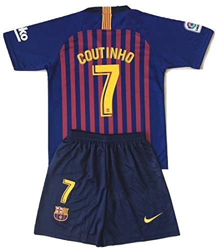 - NDK-Store Coutinho #7 FC Barcelona 2018-2019 Youths/Kids Home Soccer Jersey & Shorts (9-10 Years Old)