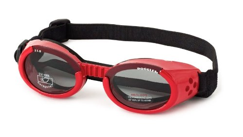Doggles DGIL13 ILS Lense Dog Goggles in Shiny Red Size-See Chart Below: - Chart Sunglasses Dimensions
