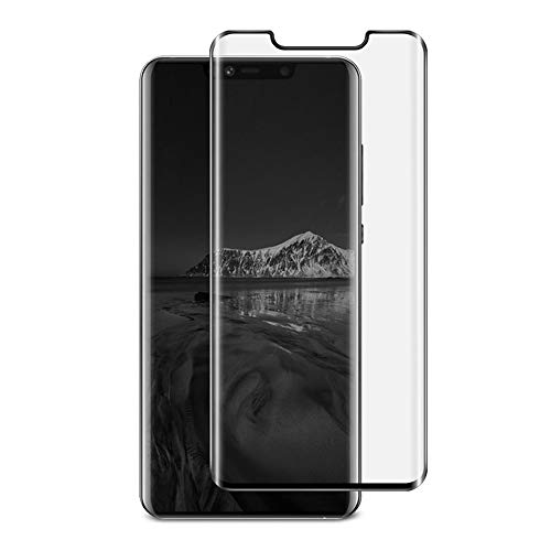 Compatible Huawei Mate 20 Pro Screen Protector Privacy Full Coverage, 2 Pack Ultra Thin HD 9H Hardness Curved Tempered Glass Film for Huawei Mate 20 Pro [Scratch Resistant][Anti-Fingerprint]