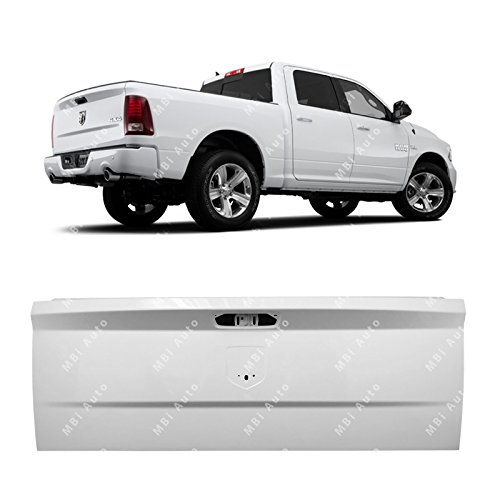 MBI AUTO - Painted PW7 White Steel Tailgate for 2009 RAM 1500 & 2010-2018 RAM 1500 2500 3500 09-18, CH1900129