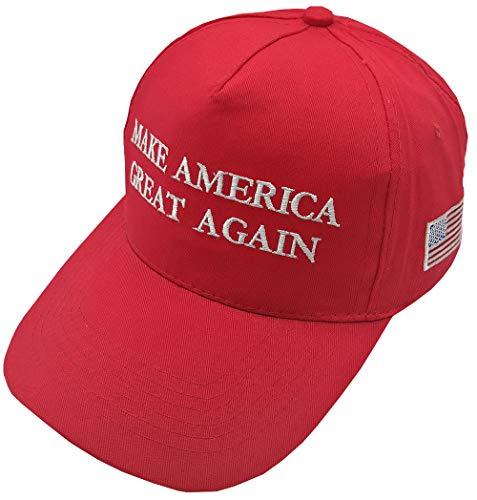 JosephineB 2020 Keep America Great Hat, Make America Great Again Embroidery USA Cotton MAGA Baseball Cap (MAGA Red, One Size)
