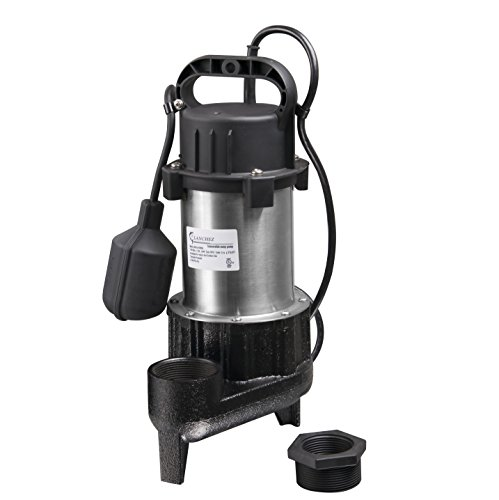 Lanchez Q850B84 Stainless Steel and Cast Iron Submersible Sump Pump Sewage Pump With Float Switch for Dirty Water (Sump Steel Stainless Pump)