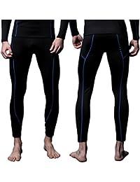 Mens MAXHEAT Fleece Compression Performance Long Johns Thermal Underwear