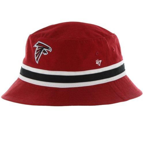 '47 Atlanta Falcons Red Striped Bucket Hat - NFL Gilligan Fishing Cap (L/XL)