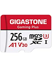 Gigastone 256GB Micro SD Card, Gaming Plus, Nintendo-Switch Compatible, High Speed 100MB/s, 4K Video Recording, Micro SDXC UHS-I A1 Class 10