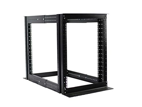 15U 4 Post Open Frame Server Rack Enclosure 19'' Adjustable Depth by Raising Electronics