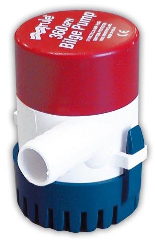 Rule 24 Submersible Bilge Pump, 360 GPH, 12 Volt
