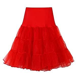 QHJ - Falda de tul para mujer, tutú de malla, cintura alta ...