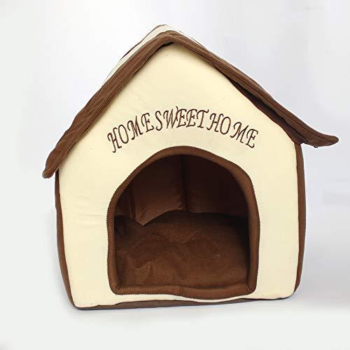 Yiuu Cama para Perros y Gatos, Interiores Portátil Plegable de Caseta para Perro, Nest para Gato,38 * 40 * 45cm