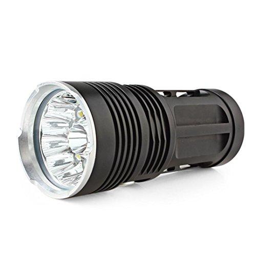 ( Orcbee  _30000LM 12x CREE XM-L T6 LED Flashlight Torch 4X 18650 Hunting Light Lamp)