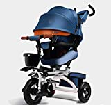 Baianju Folding Reclining Children's Tricycle Bicycle Baby Stroller Baby Lightweight Bicycle