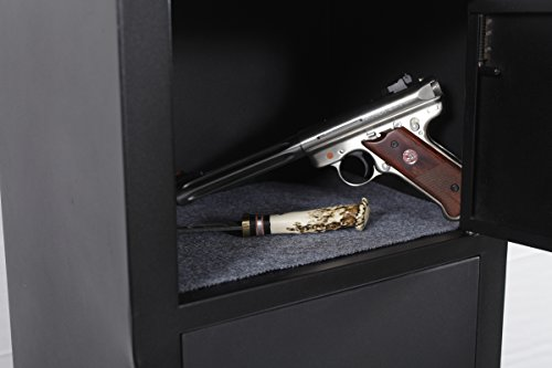 American Furniture Classics 906 Five Gun Metal Storage Cabinet With Separate Pistol Compartment by American Furniture Classics (Image #2)
