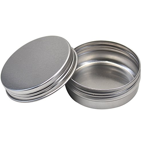 KisSealed 15 Pieces Aluminum Round Tin Storage Jar Container