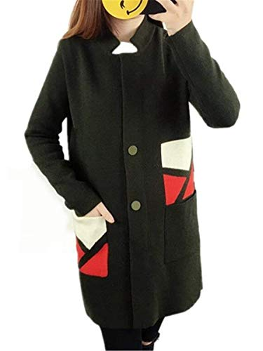 Jacket Giacca Cheap Autunno Giaccone Buon Outerwear Giubbino Donna Invernali Elegante Giubbotto Giubotto A Inverno Grün Geometrico Mercato Moda Sta Curvy Cappotto Giacche ZpE4Iwqx0q