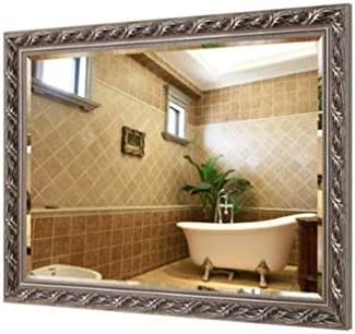 Amazon Com Good Shopping Bathroom Wall Mirrors Vanity Mirror Vintage Bathroom Mirror Large Makeup Mirrors Solid Wood Frame Wall Mounted Rectangle Hallway Bedroom Decorative Mirror W12044 Bedroom Makeup Mirror Home Kitchen