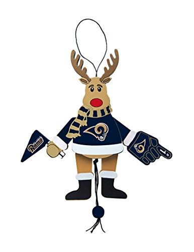 NFL Los Angeles Rams Wooden Cheer Ornament