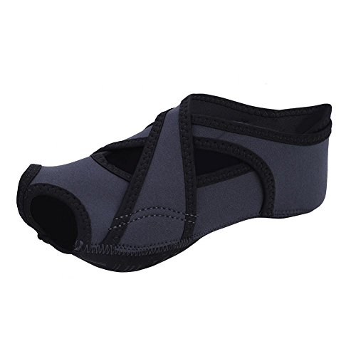 Vbestlife Ballet Yoga Socks,1 Pair Professional Non Slip Skid Pilates Barre Ballet Socks Fitness Training Yoga Dancing Socks Shoes Women(L-Grey)