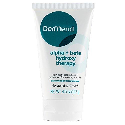 DerMend Alpha + Beta Hydroxy Moisturizer Moisturizing Glycolic Acid Skin Cream - 4.5 Ounces