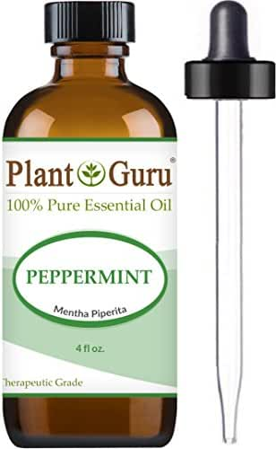 Peppermint Essential Oil 4 oz. 100% Pure & Therapeutic Grade Premium Extract of Mentha Piperita, Great for Aromatherapy Diffuser, Skin Body and Hair.