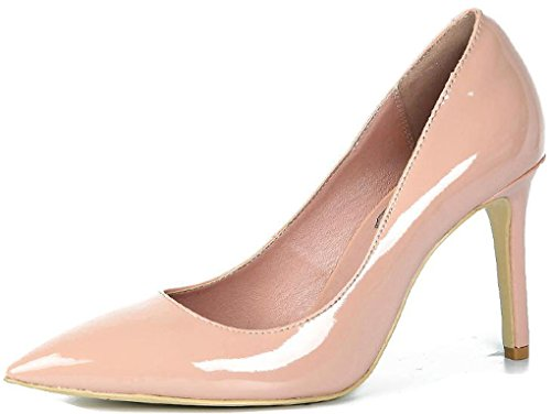 LizForm Classic Pointed toe Three Inch Stiletto Pump Patent Leather Pump Dress Heels Nude Vgbl0ry