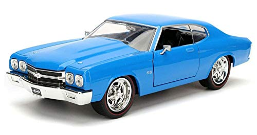 (Jada 1970 Chevrolet Chevelle SS Blue 1/24 Diecast Model Car)